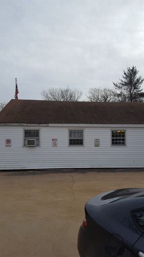 Before & After New Roof on the Post Office in  Charlton, MA (2)