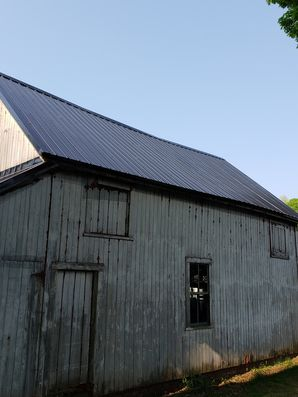 Before & After Black Metal Roof on Barn in Brookfield, MA (4)