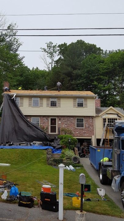 Before & After Roofing in Spencer by MTS Siding and Roofing